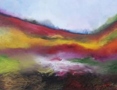 Misty moor (2005) 60cmx90cm oil on canvas Moorlands - Yvonne Coomber