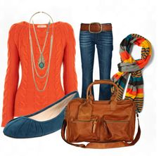 """Fall Style- Orange"" by anne-ratna on Polyvore"