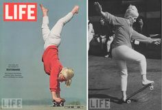 Patti McGee - 1965 Woman's first National Skateboard Champion, pictures by LIFE