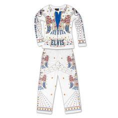 Elvis Jumpsuit Pajamas Too cute! Pjs, Pajamas, Elvis Presley Photos, My Crush, My King, Wedding Styles, Costumes, Long Live, Art Therapy