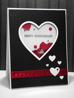my inky corner: Shaker anniversary card! my inky corner: Shaker anniversary card! Anniversary Cards For Husband, Anniversary Greeting Cards, Love Anniversary, Wedding Anniversary Cards, Homemade Anniversary Cards, Wedding Wishes, Cricut Anniversary Card, Aniversary Cards, Valentine Love Cards
