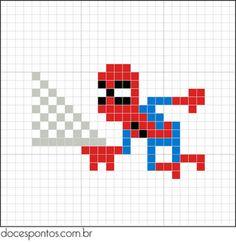 cross stitch - spider man