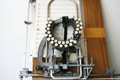Keaton Music Typewriter–Apparently there's less than a dozen of these known to exist.  Which would explain why I never knew such a thing existed.  I don't know how well it would actually work in practice, but it's really pretty awesome.