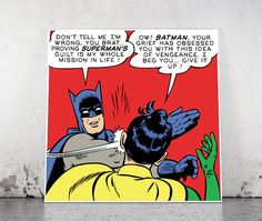 Epic Slap - Batman slapping Robin High Resolution JPG and Vector File - Replace the text with your own