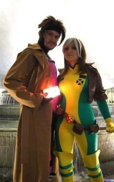 Gambit & Rogue from X-Men.     I'm a little obsessed with Gambit, I admit it!