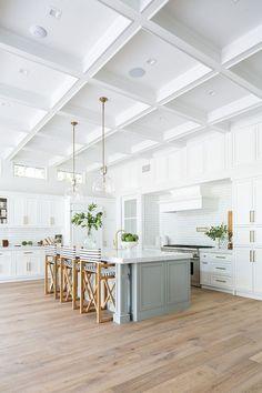 California New-Construction Custom Home - Interior design kitchen Luxury Interior Design, Interior Design Kitchen, Interior Paint, Diy Interior, Kitchen Designs, Modern Interior, Sweet Home, Dream Home Design, Dream House Interior