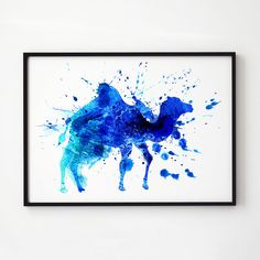 Colorful art. Wildlife print. Camel decor. Printed on high quality art paper.  SIZES:  8.3 x 11.7 (A4) 11.7 x 16.5 (A3)  This print comes