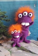 Wool Toy, Large Toy Monster, Needle Felted Monster Pet, Soft Sculpture