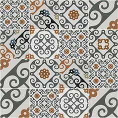 Textures Texture seamless | Patchwork tile texture seamless 16613 | Textures - ARCHITECTURE - TILES INTERIOR - Ornate tiles - Patchwork | Sketchuptexture