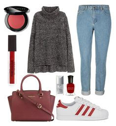 """""""Every Day #42."""" by mzelleshort ❤ liked on Polyvore featuring H&M, MICHAEL Michael Kors, adidas Originals, Bobbi Brown Cosmetics, Deborah Lippmann and Christian Dior"""