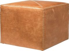 Jamie Young Company Large Buff Leather Ottoman