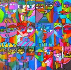 In the Art Room: Sandra Silbertzweig Inspired Portraits by Third Grade