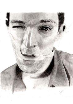 Portrait dessin debutant aux crayons graphites - Vincent Cassel