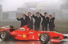 Badoer / Di Montezemelo / Irvine / Schumacher / Todt (Ferrari F300 Launch). Maranello, Italy, 1998