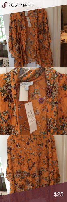 Patrons of Peace kimono NWT Beautiful fall colors kimono NWT!! Patrons of Peace Jackets & Coats