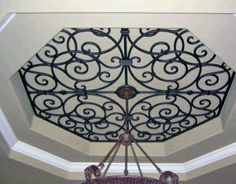 Ceiling Treatment | Ceiling Medallions | Wrought Iron Ceiling