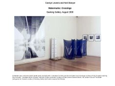 Carolyn Lewen and Neil Stanyer. Watermarks: Crossing exhibition. Geelong Gallery, 2000