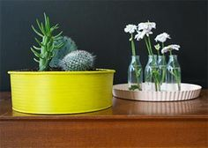Upcycle your old bakeware into planters
