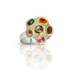 Dip into a jewel box of delicious spring colors and adorn yourself with your choice of rose cut sapphire rings, each with it's own subtle palette. Sapphire Rings, Blue Sapphire, Gold And Silver Rings, Small Rose, Ancient Jewelry, True Red, Jewel Box, Hammered Silver, Spring Colors