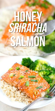 Honey Sriracha Salmon – A super easy and flavorful salmon dish full of heart-healthy protein. Easy and quick weeknight dinner! Honey Sriracha Salmon – A super easy and flavorful salmon dish full of heart-healthy protein. Easy and quick weeknight dinner! Healthy Dinner Recipes, Healthy Snacks, Cooking Recipes, Good Salmon Recipes, Heart Healthy Dinner, Super Food Recipes, Grilled Halibut Recipes, Healthy Suppers, Asian Fish Recipes