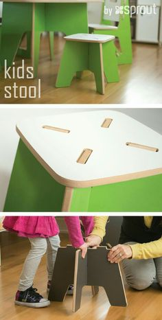 The foldable kids table and stools is a great way to get the most out of your toddler playroom space. Furniture Projects, Kids Furniture, Wood Projects, Woodworking Projects, Furniture Design, Craft Projects, Kids Table And Chairs, Kid Table, Toddler Playroom