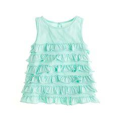 Girls' rufflelina tank top
