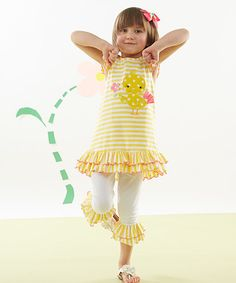 Look what I found on #zulily! Yellow Chick Tunic & Leggings - Infant, Toddler & Girls #zulilyfinds