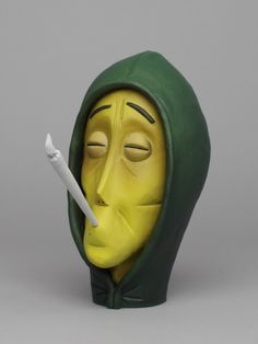 "London-based freelance artist / ""headbuilder"" Wilfrid Wood creates humorous sculptures that look like three-dimensional caricatures.  Wilfrid has produced work for clients including ASOS and Puma, while exhibiting his personal artworks around the world.  More art on the grid via YCN"