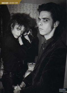 Nick Cave of Birthday Party & Blixa Bargeld of Einsturzende Neubauten. Best Friends Forever.