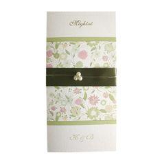 Meadow Moss Mauve Pearl LA4 wedding invitation