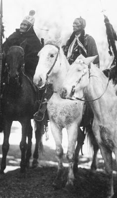 Geronimo (on the left) and Quanah Parker-1905