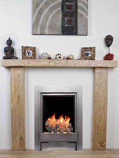 SOLID OAK BEAM FIRE SURROUND MANTELPIECE BESPOKE FIREPLACE