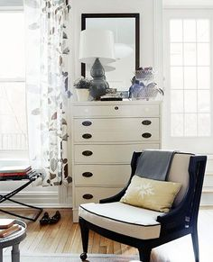 Traditional Home - Suzanne Grua & Suzanne McGrath - Chic sitting area in bedroom with ...