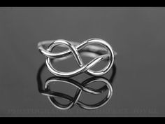Sterling silver infinity ring tutorial well demonstrated - YouTube