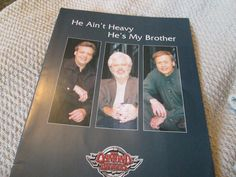 The Osmonds He Ain t Heavy He s My Brother programme booklet Branson Missouri, The Osmonds, Country Songs, Booklet, Brother, Feelings, Ebay