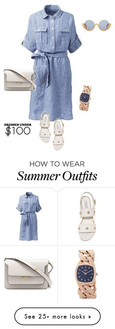 """""""outfit 6291"""" by natalyag on Polyvore featuring Lands' End, Rachel Zoe, Marni and DKNY"""