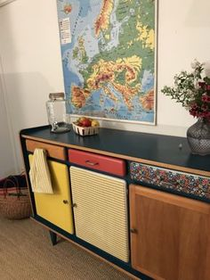 Phenomenal Painted Old Furniture Ideas, - New ideas Cute Furniture, Recycled Furniture, Furniture Makeover, Painted Furniture, Interior Design Quotes, Wood Interior Design, Home Design, Deco Design, Retro Home