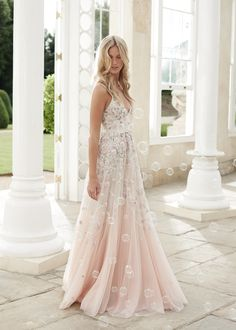 This Fairytale Silhouette Of The Ombre Insert Gown Is Made Up A