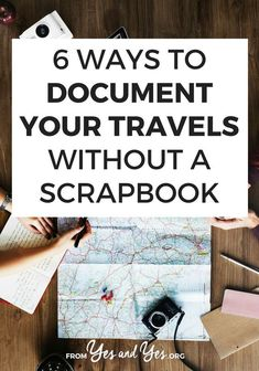 Do you want to document travel without a scrapbook? You like capturing memories but you don't want to spend 10 hours pasting them into a scrapbook? These tips for capturing travel memories are easy and sweet! Travel Advice, Travel Guides, Travel Tips, Travel Hacks, Vacation Memories, Travel Memories, Photo Memories, Scrapbooking, Scrapbook Supplies