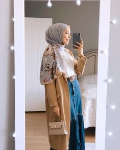 Modern Hijab Fashion, Muslim Women Fashion, Modesty Fashion, Hijab Fashion Inspiration, Mode Outfits, Fashion Outfits, Hijab Fashionista, Modest Wear, Stylish Girls Photos