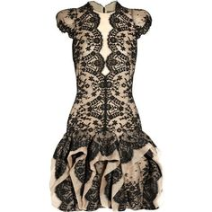Alexander McQueen dresses 2011 ❤ BCBG imitated this for fall.winter 2012