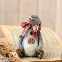 Мишки Тедди ручной работы. Ярмарка Мастеров - ручная работа. Купить Кролик Алько. Handmade. Голубой, друзья тедди