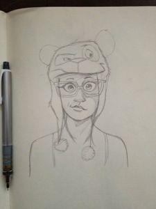 Panda Hat Girl sketch