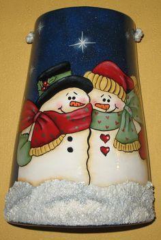 tejas con casitas navideñas decoradas en relieve - Buscar con Google