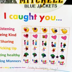 Good behavior/positive reinforcement chart. Gentle parenting technique for pre-schooler, child