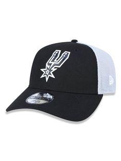 Boné New Era 3930 San Antonio Spurs Aba Curva Preto Cinza c1b96e1c2cb