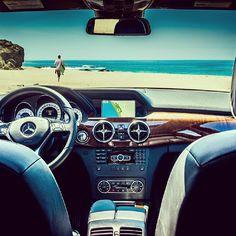 One way to get an ocean view. #GLK350 #beach