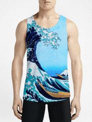 The Wave / Guys Tank TopsGet Best Men Workout Tank Top Gift Now Guy Muscle Tank OSOM WEAR Abstract Anime Art Comics Fantasy Gaming Horror Minimalistic Movies Music TV Shows Sports
