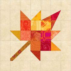 Image result for maple leaf quilt block
