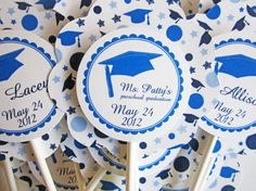 Preschool Graduation Toppers by outsidetheboxdessert on Etsy, $12.00